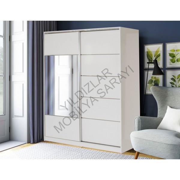 KOD NO: DLP-027 DOLAP 165 Cm - Cordoba / Beyaz