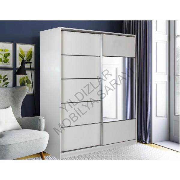 KOD NO : DLP-032 DOLAP 200 Cm - Beyaz