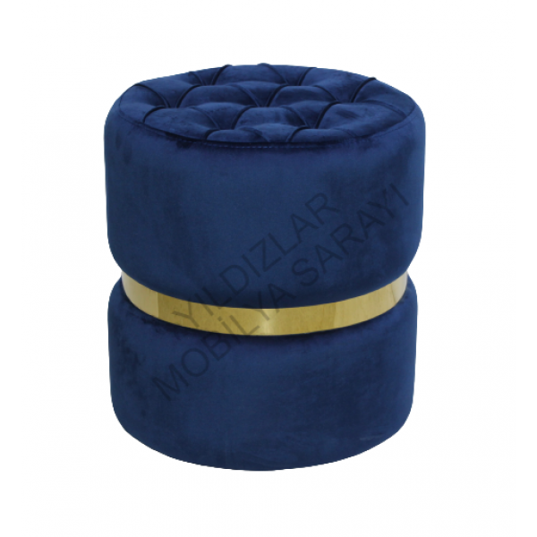 KOD NO : PUF-018 Dekoratif Puf Kapitoneli - Mavi
