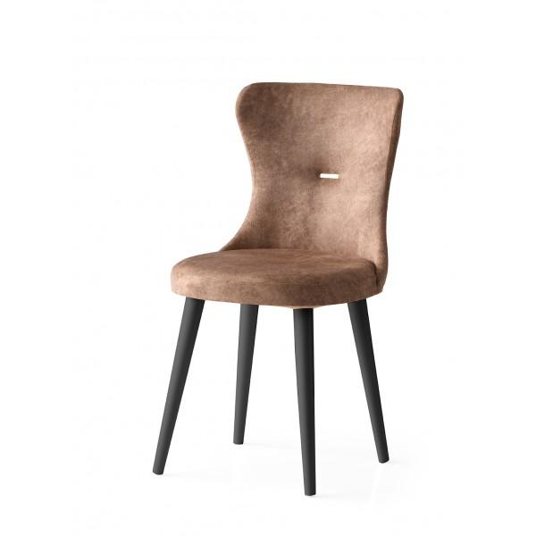 KOD NO  : SAN-092 (KAHVE/SİYAH) Sandalye