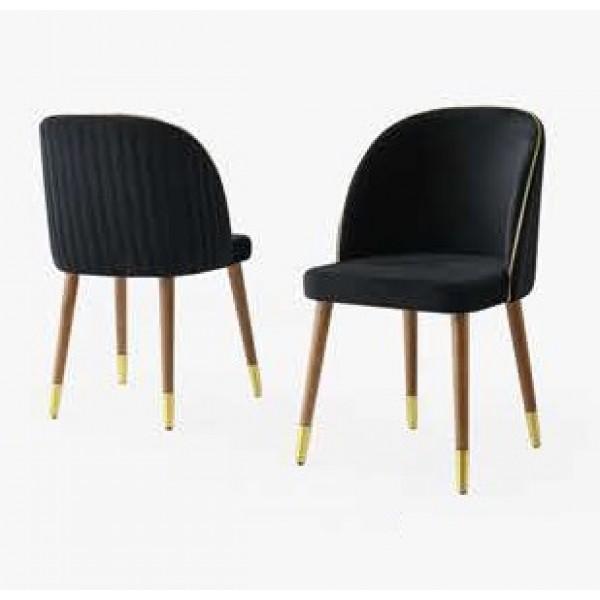 KOD NO : SAN-203 Sandalye  - Siyah/Ceviz