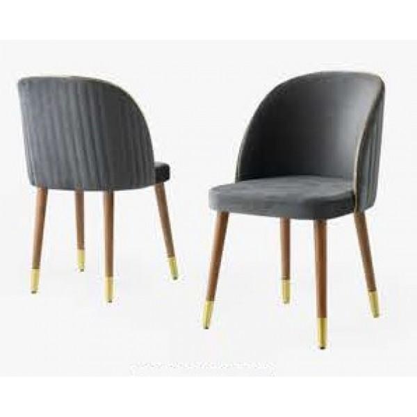 KOD NO : SAN-209 Sandalye  - Gri/Ceviz