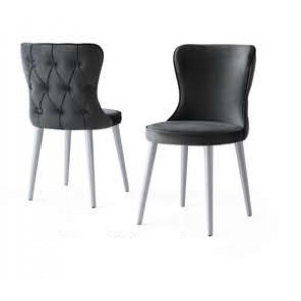 KOD NO : SAN-279 Sandalye - Gri/Metalik Krom