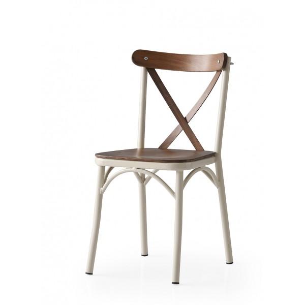KOD NO : SAN-669 (EKRU/CEVİZ) Sandalye