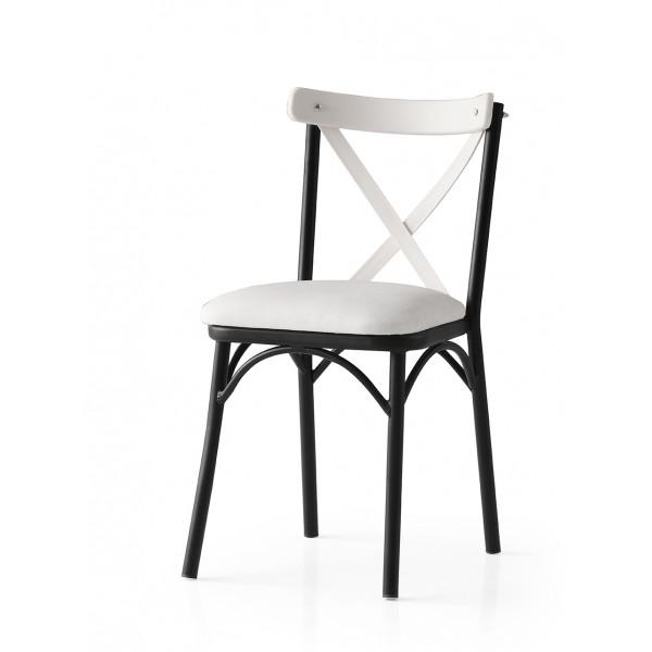KOD NO : SAN-670 (KREM/SİYAH) Sandalye
