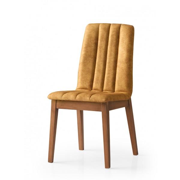KOD NO : SAN-672 (CEVİZ/SARI) Sandalye