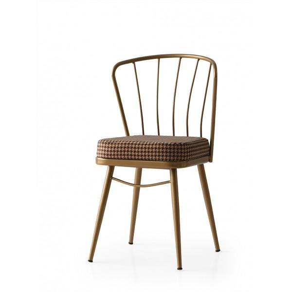 KOD NO : SAN-678 (BRONZ/KAHVE KAZAYAĞI) Sandalye