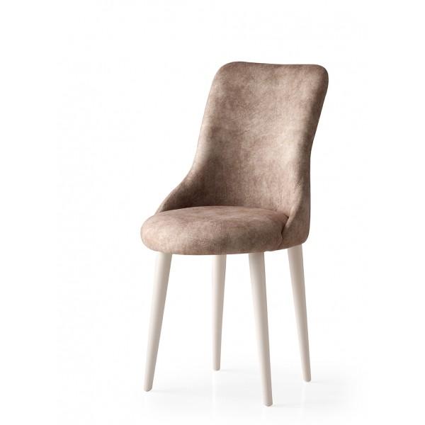 KOD NO : SAN-680 (EKRU/KAHVE) Sandalye