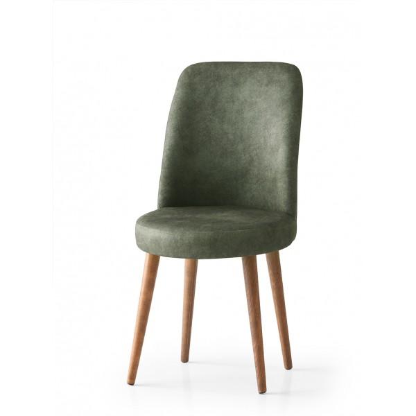 KOD NO : SAN-682 (YEŞİL/CEVİZ) Sandalye