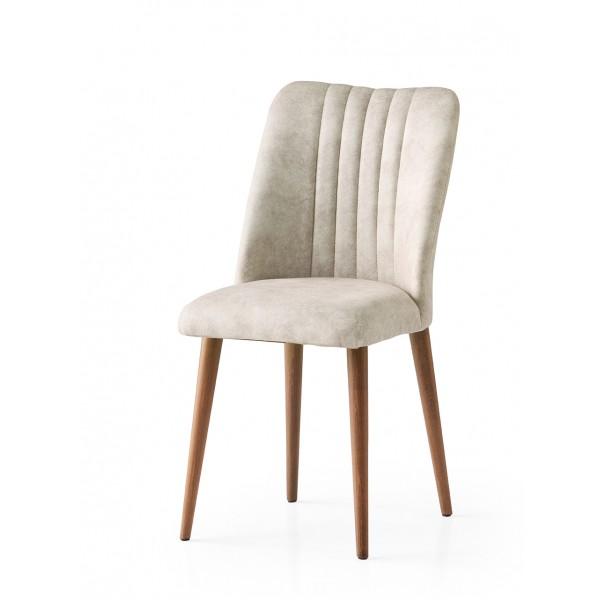 KOD NO : SAN-690 (KREM/CEVİZ) Sandalye