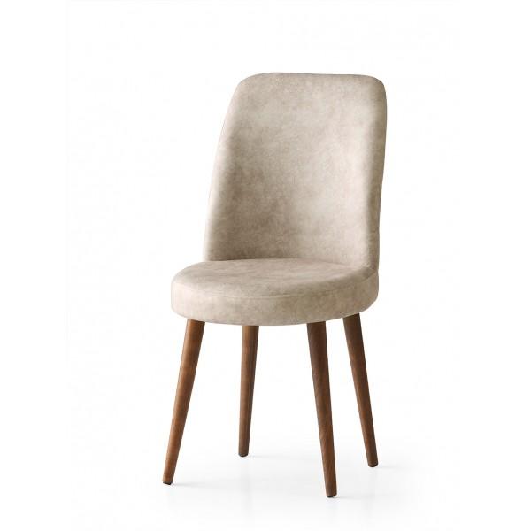 KOD NO : SAN-696 (KREM/CEVİZ) Sandalye