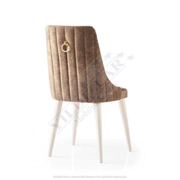 KOD NO : SAN-704 (KAHVE/EKRU) Sandalye