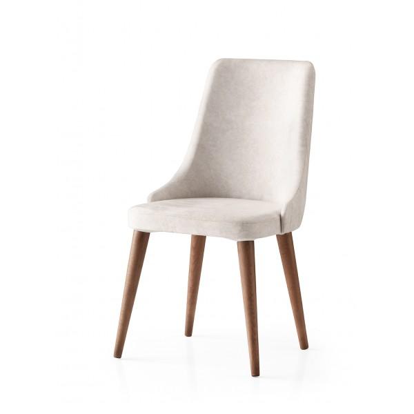 KOD NO : SAN-705 (KREM/CEVİZ) Sandalye