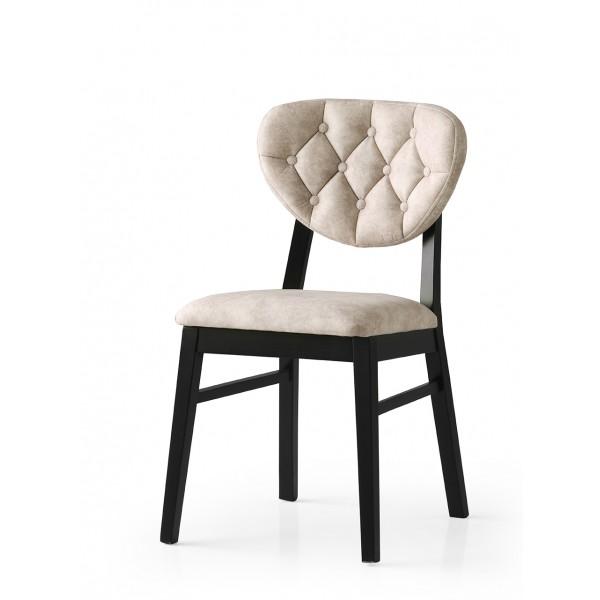 KOD NO : SAN-708 (KREM/SİYAH) Sandalye