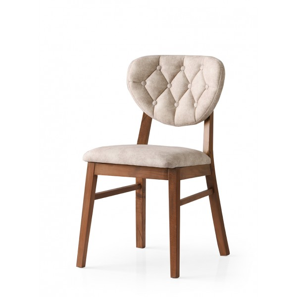 KOD NO : SAN-712 (KREM/CEVİZ) Sandalye