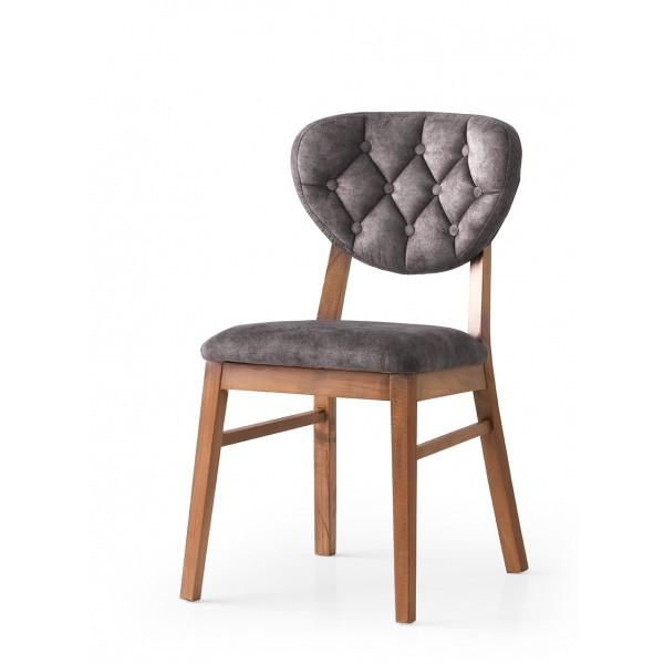 KOD NO : SAN-713 (GRİ/CEVİZ) Sandalye