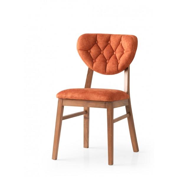 KOD NO : SAN-714 (TURUNCU/CEVİZ) Sandalye