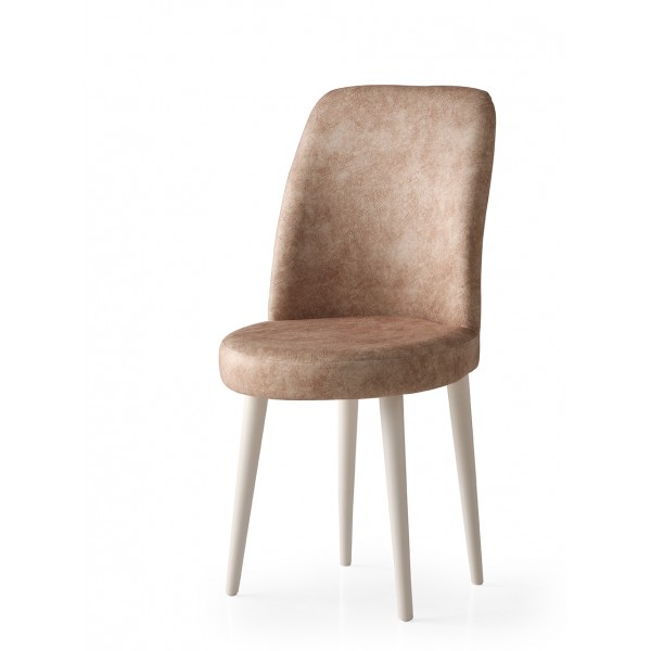 KOD NO : SAN-720 (KAHVE/EKRU) Sandalye