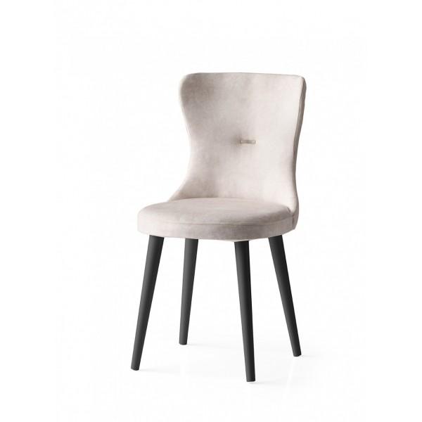 KOD NO  : SAN-725 (KREM/SİYAH) Sandalye