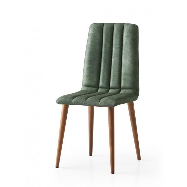 KOD NO : SAN-796 (YEŞİL/CEVİZ) Sandalye