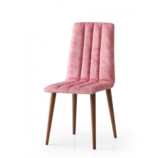 KOD NO : SAN-797 (PEMBE/CEVİZ) Sandalye