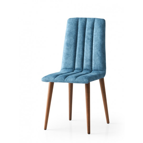KOD NO : SAN-804 (TURKUAZ/CEVİZ) Sandalye