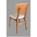 KOD NO : SAN-836 Sandalye - KREM/CEVİZ