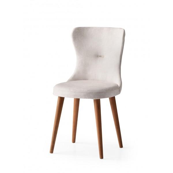 KOD NO : SAN-633 (KREM/CEVİZ) Sandalye