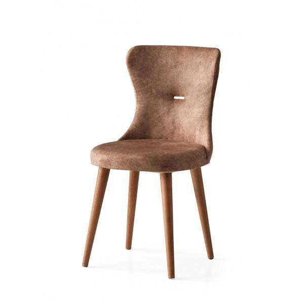 KOD NO : SAN-634 (KAHVE/CEVİZ) Sandalye