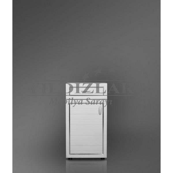 KOD NO:P.DLP-001 (BEYAZ) PVC Banyo Dolabı