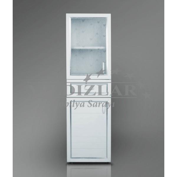 KOD NO:P.DLP-003 (BEYAZ) PVC Banyo Dolabı