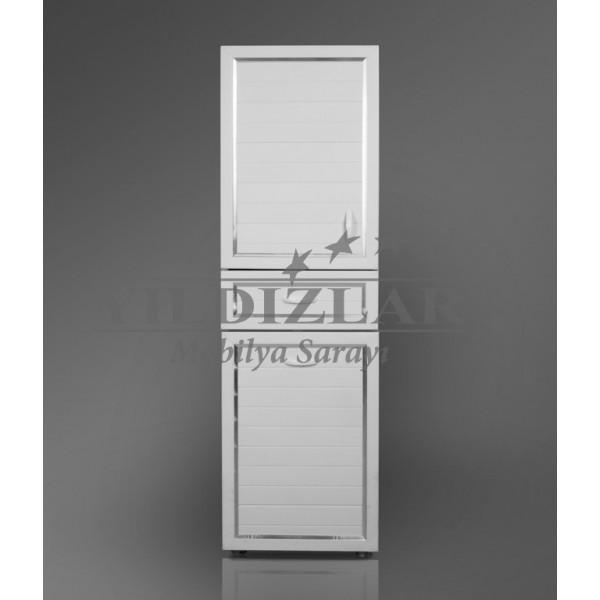 KOD NO:P.DLP-007 (BEYAZ) PVC Banyo Dolabı