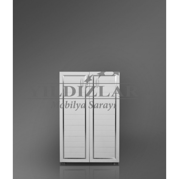 KOD NO:P.DLP-012 (BEYAZ) PVC Banyo Dolabı