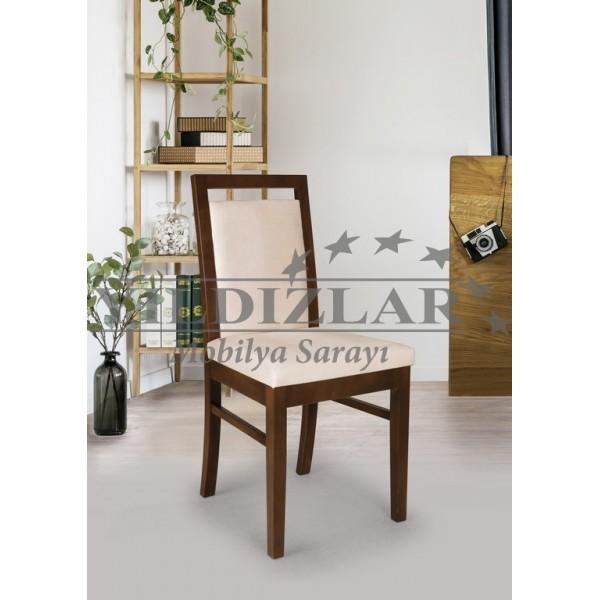 KOD NO:SAN-041 (KREM/CEVİZ) Sandalye