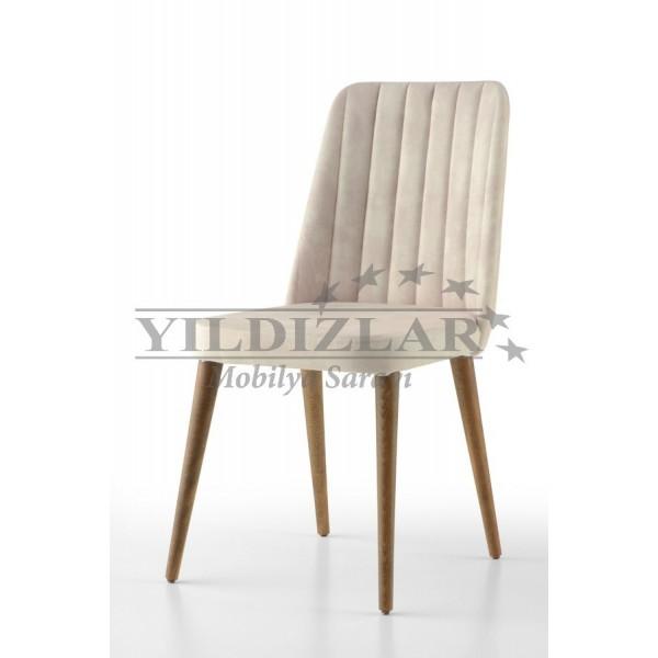 KOD NO : SAN-521 (KREM/CEVİZ) Sandalye