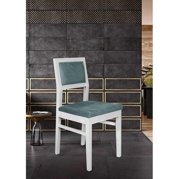 KOD NO : SAN-523 (KUMAŞ) (TURKUAZ/BEYAZ) Sandalye