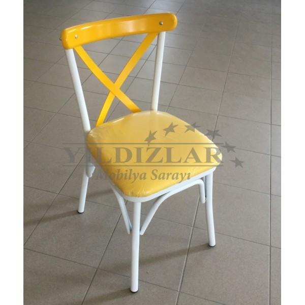 KOD NO : SAN-525 (BEYAZ/SARI) Sandalye