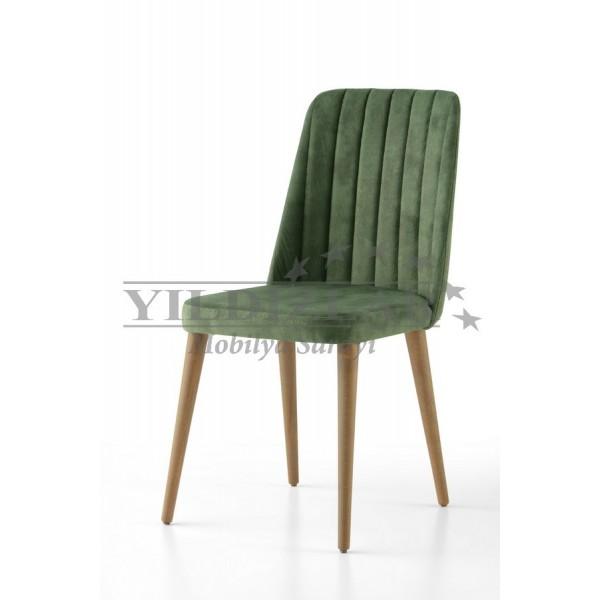 KOD NO : SAN-542 (CEVİZ/YEŞİL) Sandalye