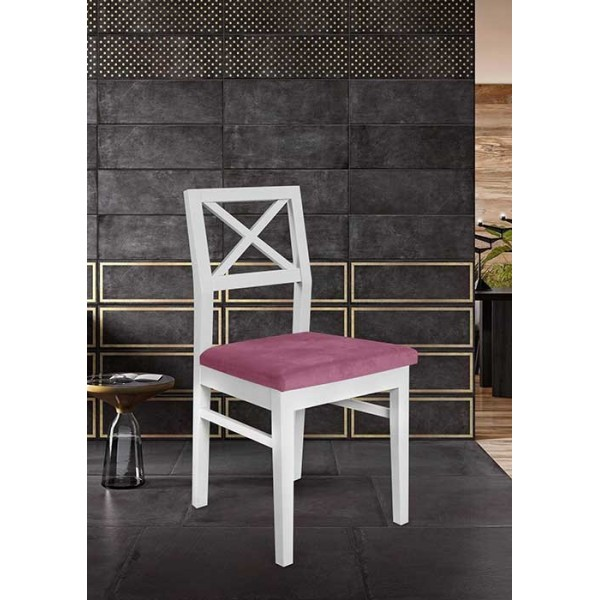 KOD NO : SAN-554 (KUMAŞ) (PEMBE/BEYAZ) Sandalye