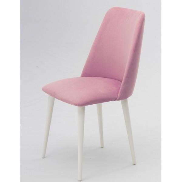 KOD NO : SAN-555 (PEMBE/BEYAZ)  Sandalye