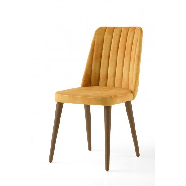 KOD NO : SAN-598 (SARI/CEVİZ) Sandalye