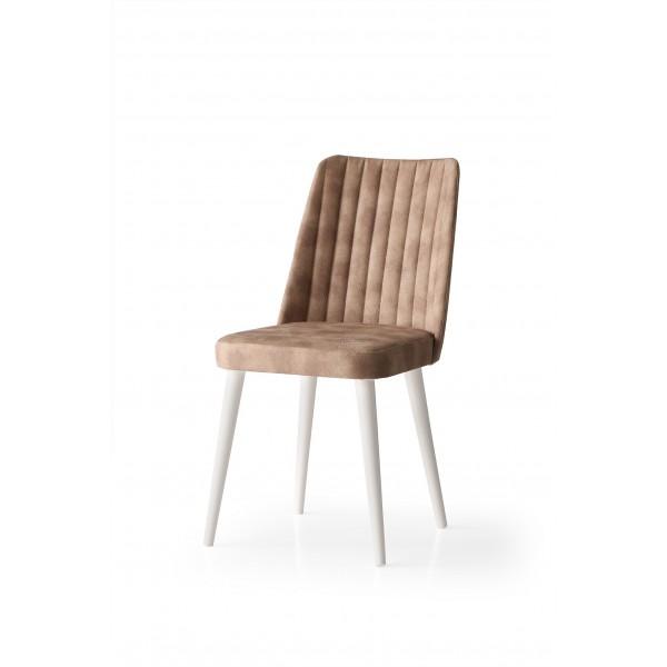 KOD NO : SAN-612 (KAHVE/EKRU) Sandalye