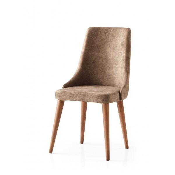 KOD NO : SAN-629 (KAHVE/CEVİZ) Sandalye