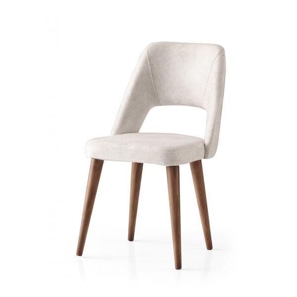 KOD NO : SAN-630 (KREM/CEVİZ) Sandalye
