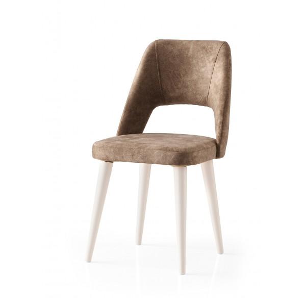 KOD NO : SAN-631 (KAHVE/EKRU) Sandalye