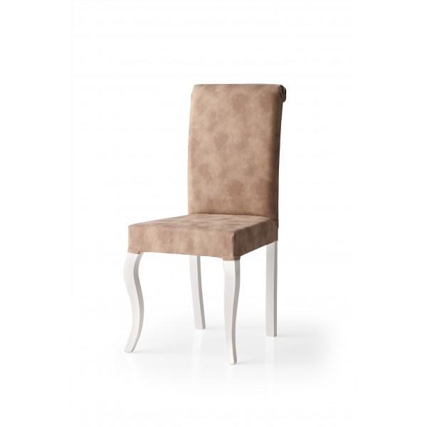 KOD NO : SAN-637 (EKRU/KAHVERENGİ) Sandalye