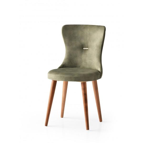 KOD NO : SAN-657 (YEŞİL/CEVİZ) Sandalye