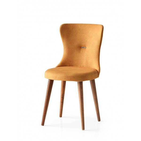 KOD NO : SAN-658 (SARI/CEVİZ) Sandalye