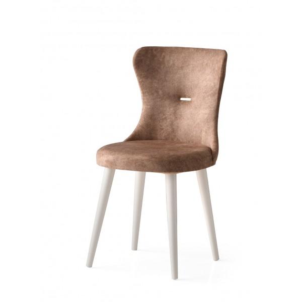 KOD NO : SAN-661 (KAHVE/EKRU) Sandalye