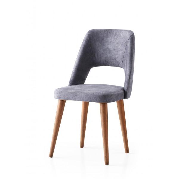 KOD NO : SAN-683 (GRİ/CEVİZ) Sandalye